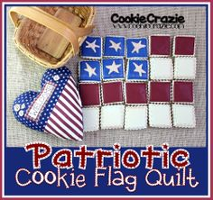 Patriotic Cookie Flag Quilt (Tutorial)  http://www.cookiecrazie.com/2012/06/patriotic-cookie-flag-quilt-tutorial.html
