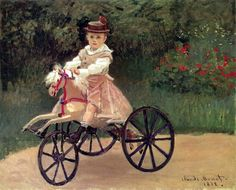 Jean Monet On His Horse Tricycle, Claude Monet (1840 - 1926, French), I AM A CHILD-children in art history-blog