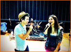 Victoria Justice And Max Schneider Rehearse For The Make It In America Tour