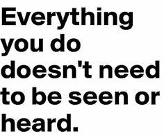 Heard or Seen