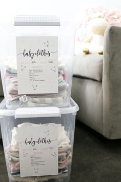Genius nursery organization tips: Keep an inventory of the clothes you have on hand, so you don't forget them with these printables at I Heart Organizing.