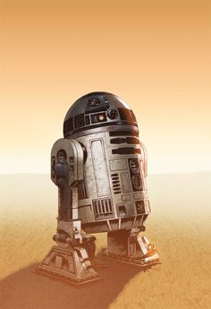 Artoo! My youngest daughter's very favorite Star Wars character. 60 Awesome Star Wars Illustrations