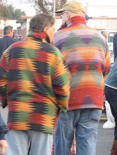 aztec weave coat blokes