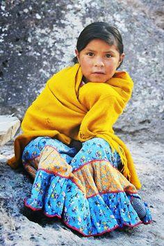 Raramuri (Tarahumara) girl, Chihuahua