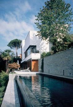 Stanton Williams Architects designed Casa Fontana in Lugano, Switzerland.