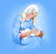 Mary with baby Jesus, by Penny Parker
