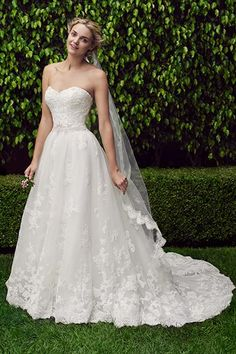 Wedding gown by Casablanca Bridal.