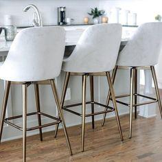 kitchen bar stools with backs swivel * kitchen bar stools Counter Stools With Backs, Modern Counter Stools, White Bar Stools, Stools For Kitchen Island, Swivel Counter Stools, Modern Bar Stools, Kitchen Islands, Kitchen Counter Chairs, Contemporary Bar Stools