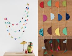 Cute paper garland...maybe for an xmas tree?