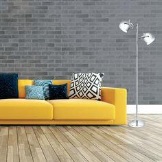 2-Light Adjustable Head Chrome Floor Lamp - Modern Home Decor