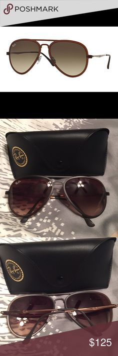 NWT! Ray-Ban Aviator LightRay Collection NWT!! Ray-Ban aviator. LightRay collection. Model # 4211 color brown. Ray-Ban Accessories Sunglasses
