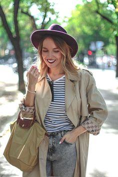 Look con gabardina y sombrero. bloggermoda el blog de luceral streetstyle