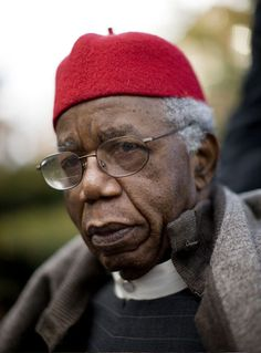 Chinua Achebe, 80, Nigerian, Novelist. Author of the famous novel 'Things Fall Apart' which is the most widely read book in modern African Literature.