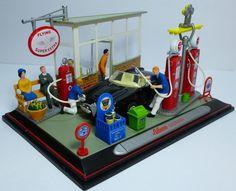 Schuco Junior Line Nr.27030 Diorama with Alfa Romeo Giulietta spider 1:43 MIB #Schuco #AlfaRomeo