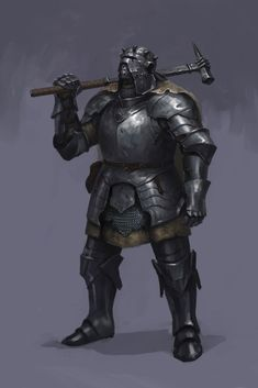brutal armor, knight, Konstiantyn Syvolotskyi on ArtStation at https://www.artstation.com/artwork/XbAP0