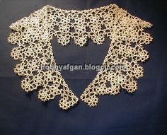 beautiful tatting  tatted collar...would love to learn how to do this...