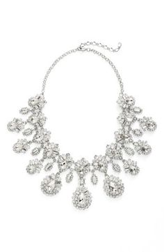 Cristabelle'Deco' Bib Necklace | Nordstrom. Informed by the intricate designs of the past, this stunning bib necklace shines with tiers of sparkling crystals in dizzying intricacy.