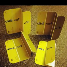 Raided Home Depot to make contraction cards -- THIS IS GENIUS!