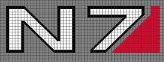 Mass Effect cross stitch - Google Search