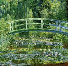 Monet's Water Lilies and Japanese Bridge 1899...one of my favourite paintings