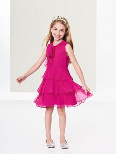 Oscar de la Renta - Tiered Silk-Chiffon Bow Dress