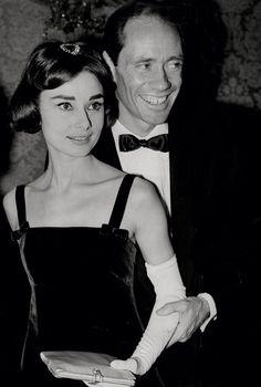 Audrey with her husband Mel Ferrer.