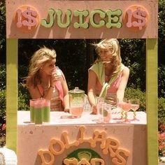 a good ol' fashioned lemonade stand! sooo cute! sorority event??  @Nikki Roush - PR Event?! :)