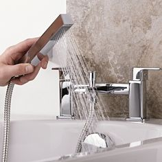 Give your bathroom a contemporary touch with the Level tub shower mixer faucet