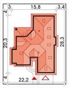 DOM.PL™ - Projekt domu HR Lawenda BP 2-garaże CE - DOM TZ9-48 - gotowy koszt budowy Modern House Plans, Floor Plans, How To Plan, Houses, 3d, Arquitetura, Home Plans, Build Your House, Homes
