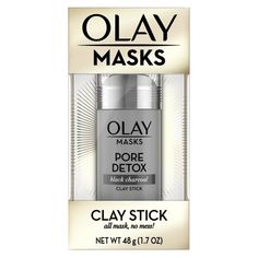 White Charcoal Clay Face Mask Stick - Exfoliate and remove impurities with the Olay Face Mask Stick. Kaolin clay with white charcoal clay helps remove dead skin cells and reveal your natural, glowing skin. Oil Of Olaz, Black Charcoal Mask, Multi Masking, Clay Face Mask, Clay Faces, Cleansing Mask, Homemade Face Masks, Facial Cleanser, Facial Masks