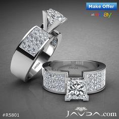 Splendid Princess Diamond Heavy Engagement Ring GIA G White Gold ct. Trendy Jewelry, I Love Jewelry, Solitaire Ring, Diamond Rings, Art Deco Diamond, Gold Wedding Rings, Ring Designs, Jewerly, White Gold