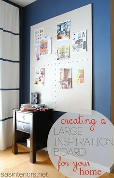 How to Make a {GIANT} Inspiration Board!