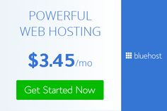 Bluehost, one of the most powerful web hosting! Get Started Now!