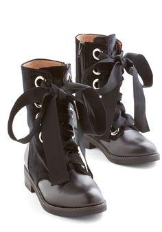 Velvet Wonder-Bound Boot in Black