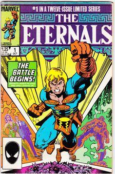 Eternals Marvel Comics 1985 Series First Issue vintage Marvel Comic Books, Comic Book Heroes, Marvel Characters, Comic Books Art, Comic Art, Book Art, Cartoon Characters, Dc Heroes, Gi Joe