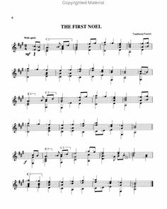 Easy Guitar Christmas Songs • Silent Night • Chords, Tab, Melody ...