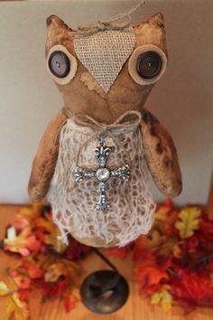 Fall Owl Stuffed Prim Decor on by CraftsByJoyice on Etsy, $49.95