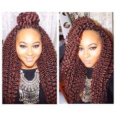 IG: @curvesonthemove Crochet Braids with Harlem 125 Kima Braid Brazilian Twist (4 packs)