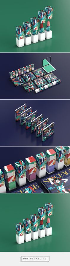 Space Age Cosmetics packaging design by Burak Ozcan - http://www.packagingoftheworld.com/2017/10/space-age.html