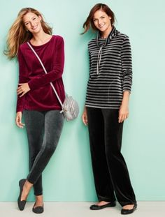 Talbots - Luxe Velour Long Sleeve Tunic | Active -T by Talbots |