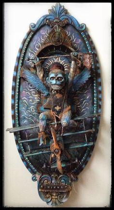 Flying Monkey by Michael deMeng Hybrid Art, Steampunk House, Art Carved, Recycled Art, Repurposed, Assemblage Art, Art For Art Sake, Box Art, Art Techniques