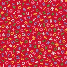 alphabetized Christmas lists fabric by weavingmajor on Spoonflower - custom fabric