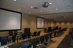 Three Projection Systems installed in Class Rooms with partitioning walls.