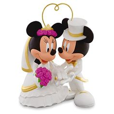 Hallmark I Do Times Two Mickey and Minnie Porcelain Wedding Ornament Wedding Anniver... *** Click image for more details.