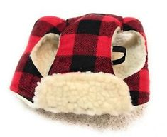 Dog Hat Size XS/S Pet Puppy Pup Attire Animal Red Black Squares Winter Style  | eBay