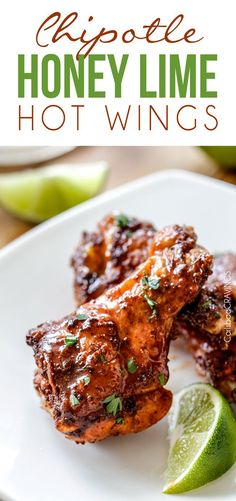 Baked Chipotle Honey Lime Hot Wings smothered in a chipotle rub then bathed.- Baked Chipotle Honey Lime Hot Wings smothered in a chipotle rub then bathed. Hot Wing Sauces, Chicken Wing Sauces, Chicken Wing Recipes, Chicken Meals, Mexican Appetizers, Mexican Food Recipes, Appetizer Recipes, Tostada Recipes, Mexican Shrimp