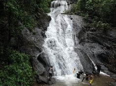 This spectacular waterfall is located in Canacona, Goa. Bamanbudo waterfall flows down along the rocks looking more like a waterslide than a waterfall. The waterfall flows right by the roadside and is easily accessible. Since the water slides down the rocks, there is no well at the bottom and bathing is fun due to the force of the water. Other than this, there are streams rushing down the slopes, churning out milky foam amidst the breathtaking scenery. See more at: http://www.hemtravels.com