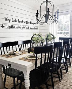 They Broke Bread in their Homes and ate Together with glad and sincere Hearts- Wall Art SALE! They Broke Bread in their Homes and ate Together with glad and sincere Hearts- Wall Art Room Design, Dining Room Walls, Dining Table, Farmhouse Dining Table, Home Decor, Farmhouse Dining Rooms Decor, Dining Room Table, Interior Design, Farmhouse Table