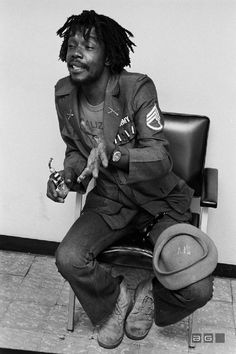 *Peter Tosh*, Kingston, Jamaica, 1975. More fantastic pictures and videos of *The Wailers* on: https://de.pinterest.com/ReggaeHeart/ ©Kim Gottlieb-Walker/ lenswoman.com
