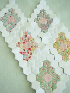 @ Pretty by Hand - Beautiful WIP - hexagon diamonds